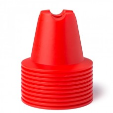 CONE SET 10 CM Red 10 pices