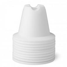 CONE SET 10 CM White 10 pices