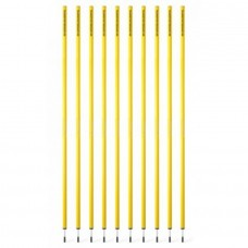 Slalom poles yellow (2 pieces) 1,80 m – set of 10 pices