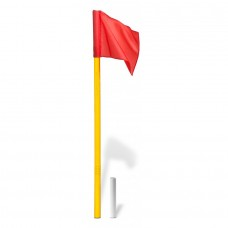 Corner flag set - red with hinge (color: yellow)