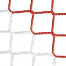 Goal net (red-white) - 5 x 2 m, 4 mm PP, 80 150 cm