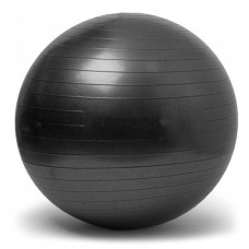 Gymnastics Ball Black Size 75 cm