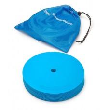 Marking discs ø 21 cm Set of 12 blue