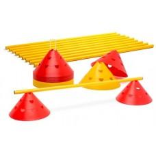 Jumbo perforated cones – hurdles et (10 hurdles)