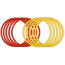 Set of 10 coordination rings red