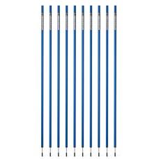 10 Slalom poles 160 cm diameter 25 mm - Blue