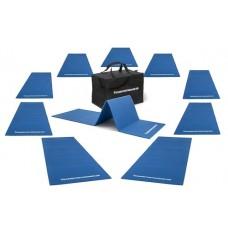 Set of 10 gym mats (190 x 60 x 0,8 cm) outdoor - foldable