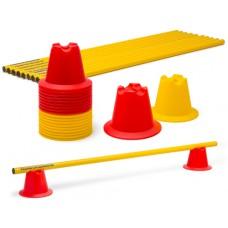 Mini pylons 10 cm - hurdles (10 hurdles)