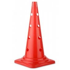 Perforated cone in red - Height: 52 cm