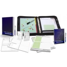 FOOTBALL - TRAINERSET 3 trainer folder workbook notebook notepad game observation sheets