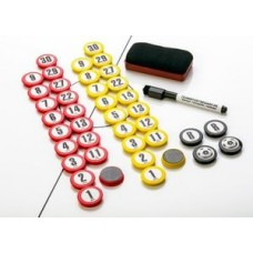 Magnetic set for tactical charts - ø 30 mm