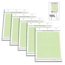 Set of 5 - Soccer flipchart playing field blocks 600 x 900 mm